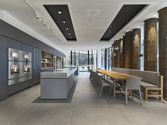der neue gaggenau showroom m nchen m bel spanrad rosenheim. Black Bedroom Furniture Sets. Home Design Ideas