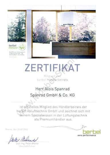 Berbel 2013 - Möbel Spanrad ist offizielles Mitglied des Berbel Händlerbeirates