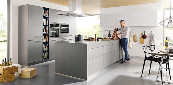 Das klassische material als küchenfront