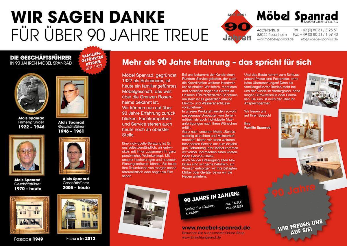 90Jahre Artikel - Möbel Spanrad aus Rosenheim