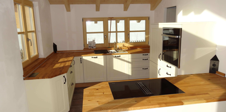 Schüller Küchen - Modell Canto Magnolia mit Eiche | Möbel Spanrad